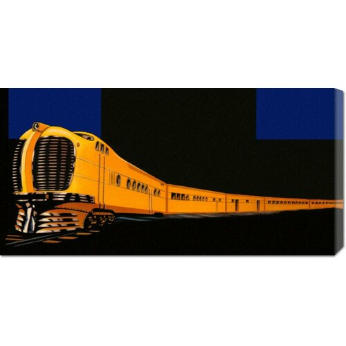 Bentley Global Arts 'Golden Limited' by Retro Travel Painting Print on Canvas