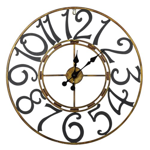 "Cooper Classics Oversized 25.25"" La Salle Wall Clock"