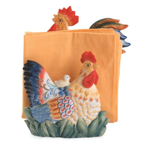 Fitz and Floyd Ricamo Napkin Holder