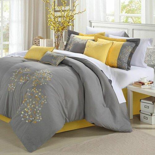 Floral 12 Piece Comforter Set