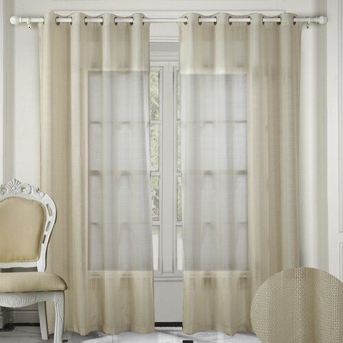 Chic Home Crystal Grommet Curtain Panel