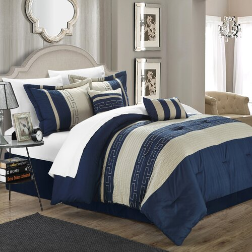 Fancy Bedroom Chairs Modern Zen Bedroom Rustic Chic Bedroom Decor Exclusive Bedroom Sets: Chic Home Carlton 6 Piece Comforter Set