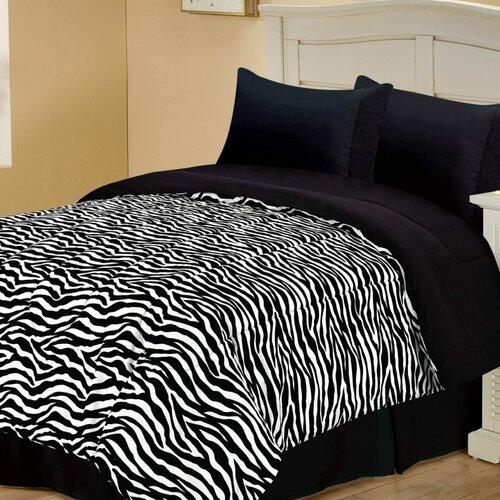 Chic Home Zebra Style Reversible Comforter