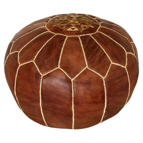 Ikram Design Moroccan Leather Pouf Ottoman & Reviews | Wayfair