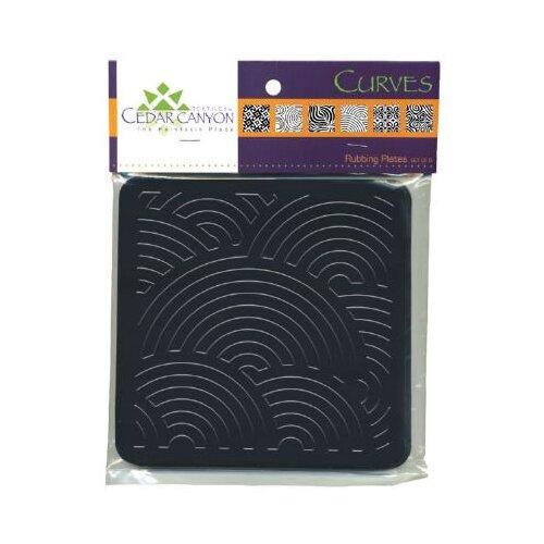 Cedar Canyon Textiles Curves Rubbing Plate Set