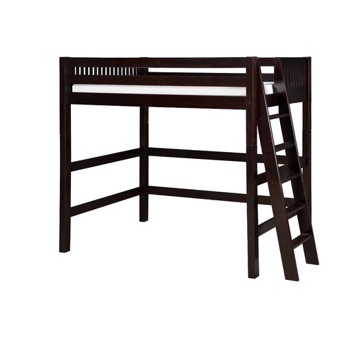 Twin High Loft Bed with Lateral Ladder
