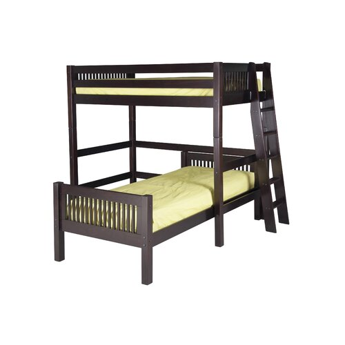Twin over Twin Loft Bed with Lateral Ladder