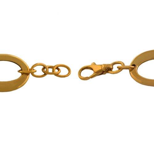 Fremada Jewelry Fancy Oval Link Bracelet
