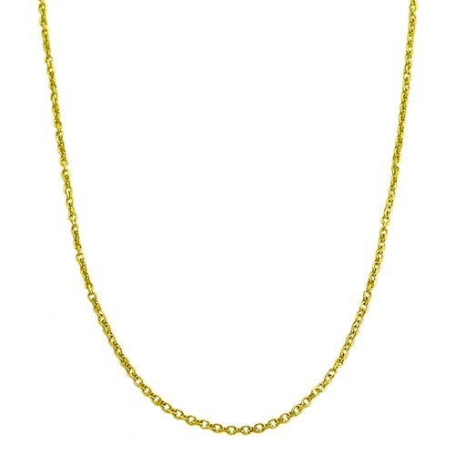Yellow Gold Diamond Cut Cable Chain