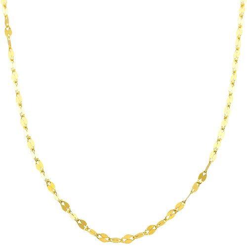 Yellow Gold Mirror Flat Link Chain