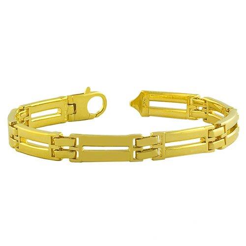 Men's Solid Designer Link Bracelet