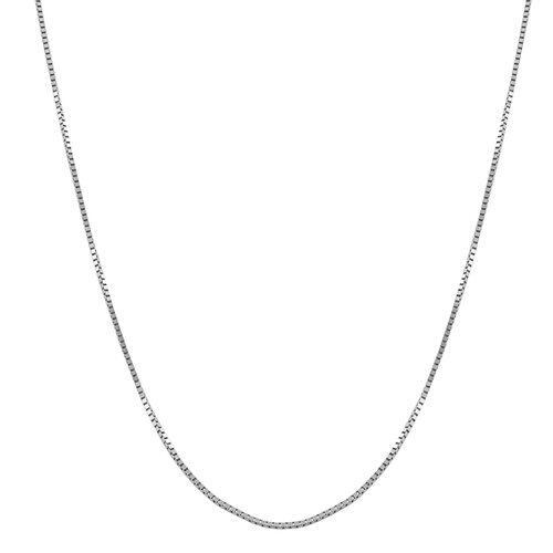 Fremada Jewelry White Gold Box Necklace