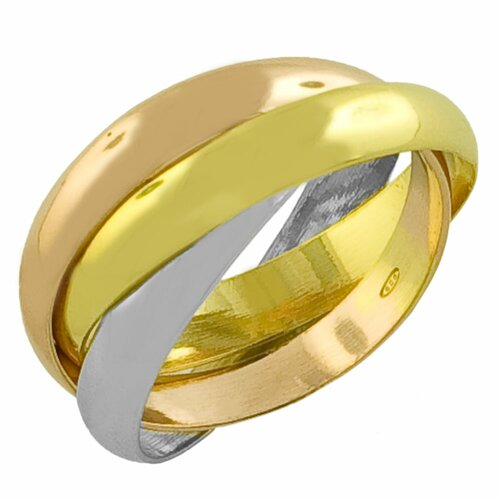 Gold Over Sterling Silver Interlocked Rolling Rings