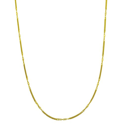 Fremada Jewelry Yellow Gold Curb Chain Necklace