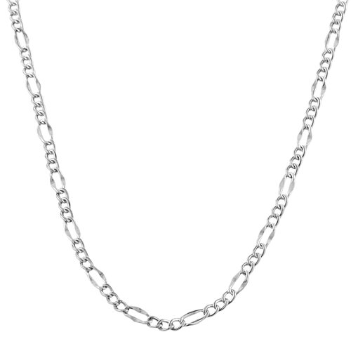 White Gold Fancy Figaro Link Chain