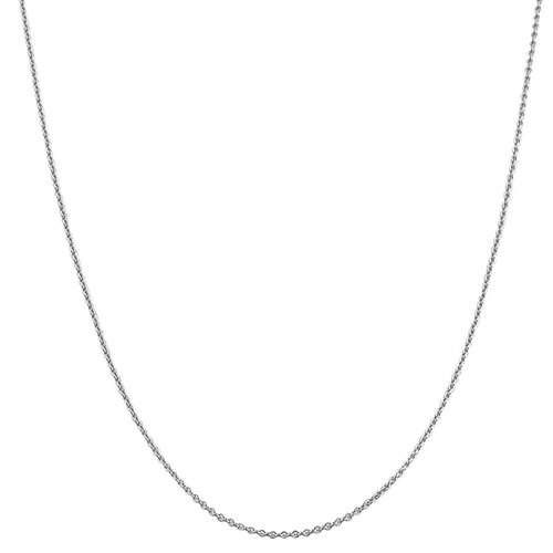 White Gold Round Cable Chain