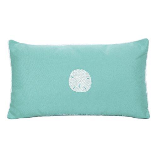 Nantucket Bound Sand Dollar Embroidered Sunbrella Fabric Beach Pillow