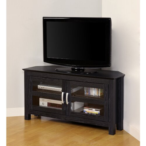"Home Loft Concept 44"" Wood Corner TV Stand"