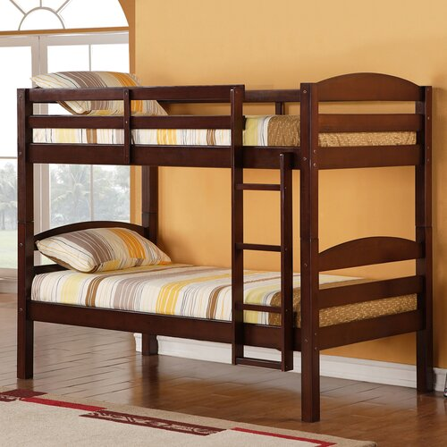 home loft concept twin bunk bed with built in ladder reviews wayfair. Black Bedroom Furniture Sets. Home Design Ideas