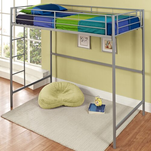 Home Loft Concept Metal Twin over Loft Bunk Bed