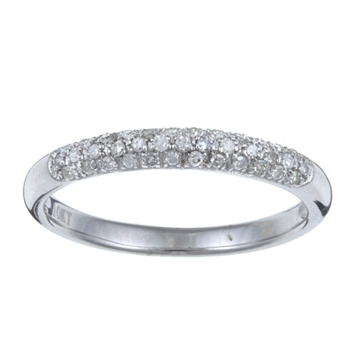 Gold Pave Set Diamond Band