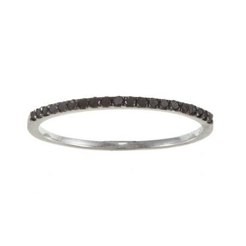 White Gold Pave Set Diamond Band