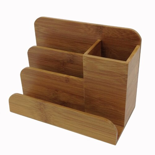 Buddy products bamboo desk organizer reviews wayfair - Bamboo desk organiser ...