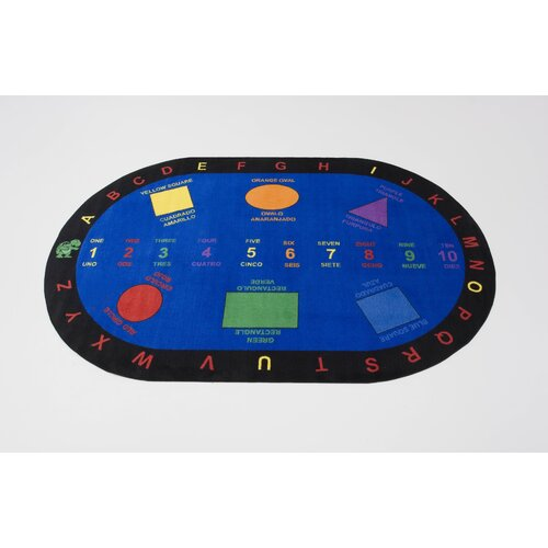 Kids World Rugs Bilingual Shapes Kids Rug