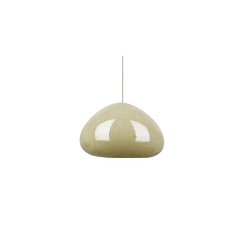 River Rock Soft Round 1 Light Monorail Pendant
