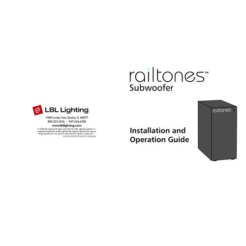 Tech Lighting Railtoness Subwoofer in Black