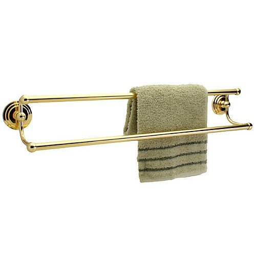 "Dynasty Hardware Newport 26.5"" Wall Mounted Double Towel Bar"