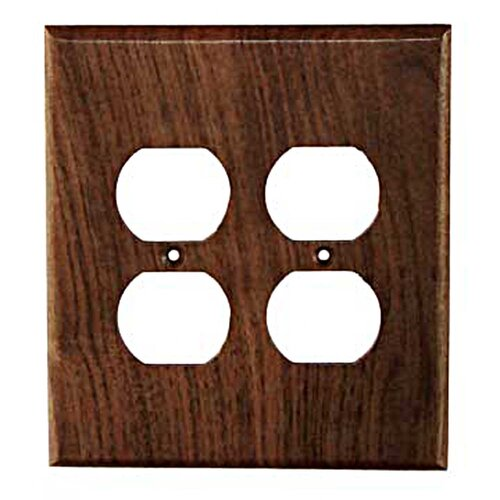 Traditional 2 Duplex Unfinished Switch Plate