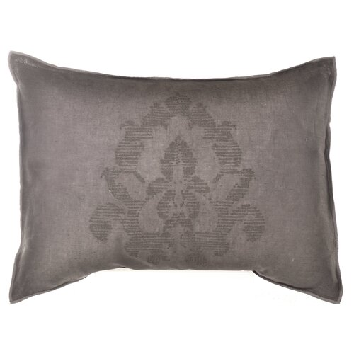 "Vera Wang Damask 15"" x 20"" Medallion Embroidery Decorative Down Pillow"