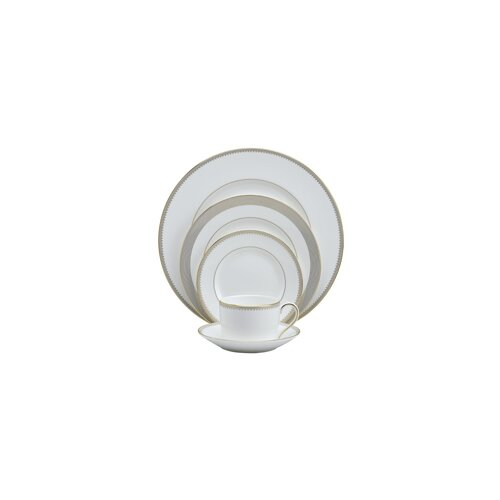 Golden Grosgrain 5 Piece Place Setting