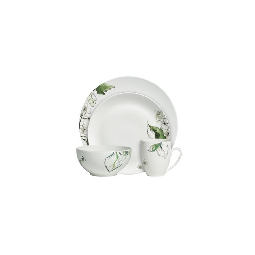 Floral Leaf 4 Piece Place Setting