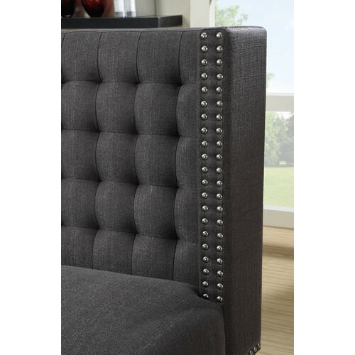 Upholstered Banquette: PRI Upholstered Banquette In Charcoal & Reviews