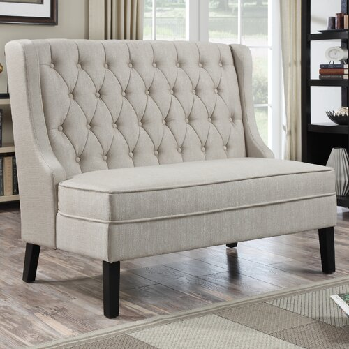 Long Dining Bench With Back: PRI Upholstered Banquette In Oatmeal & Reviews