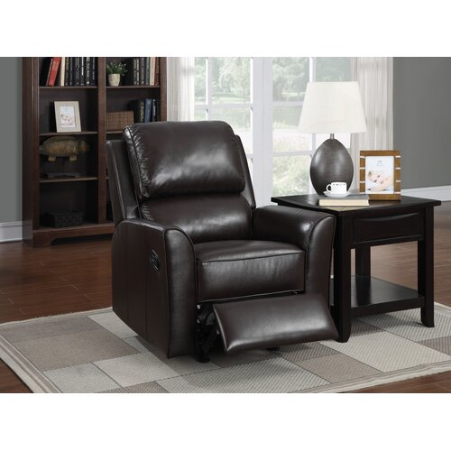 PRI Leather Rocker Recliner