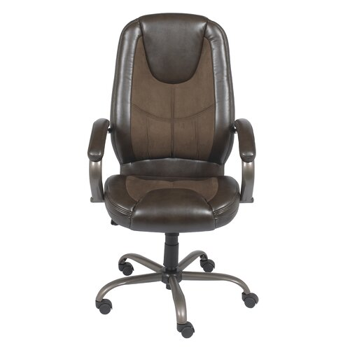 Z-Line Designs Mid-Back Leather Managerial Chair
