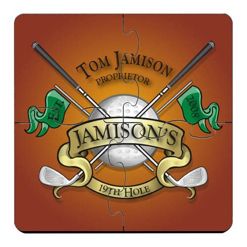 Personalized Gift Drink Coaster Puzzle