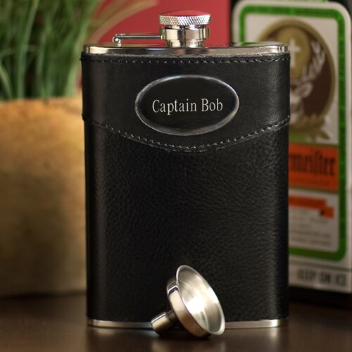 Personalized Gift Leather Wrapped Flask