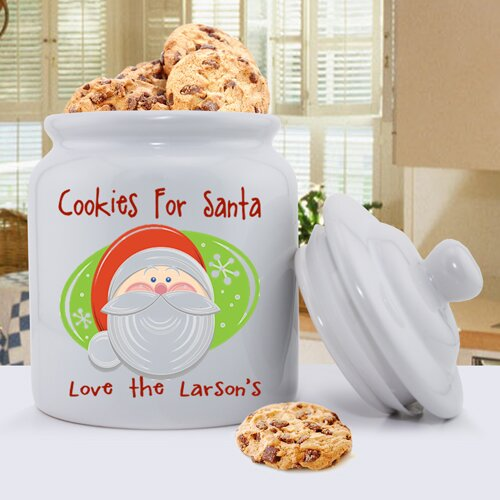 JDS Personalized Gifts Personalized Gift Holiday Cookie Jar