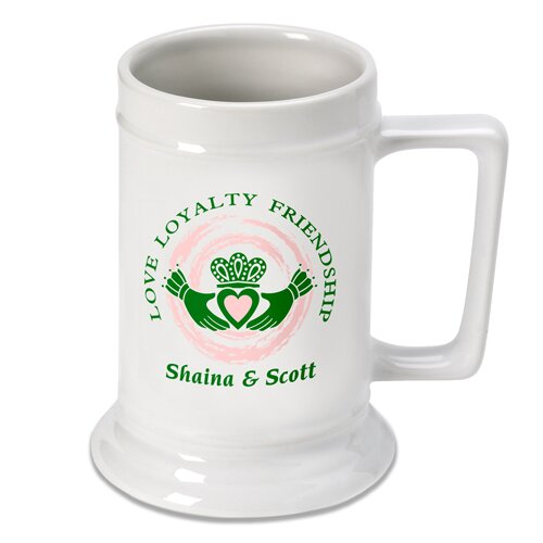 Personalized Gift Claddagh Beer Stein Mug