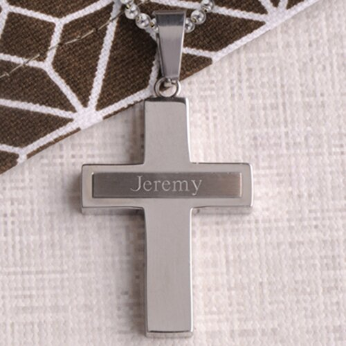 JDS Personalized Gifts Personalized Gift Jewel Inlay Cross Necklace