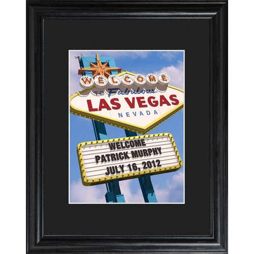 Personalized Gift Vegas Marquee Framed Photographic Print