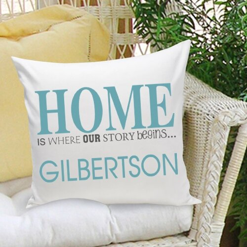 Personalized Gift Family Name Personalized Decorative Pillow