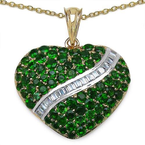 JewelzDirect 925 Sterling Silver Gemstone Pendant