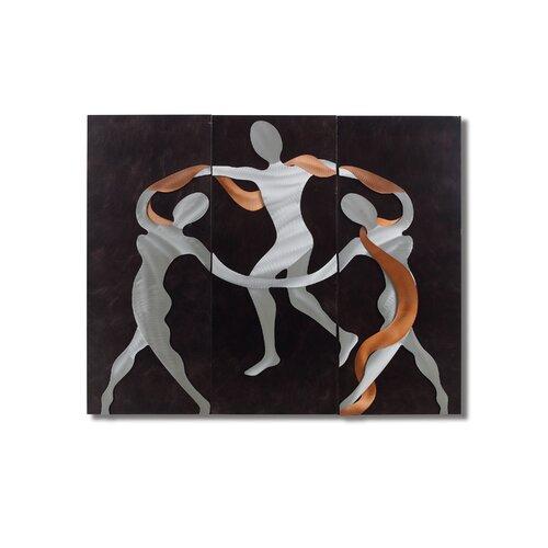 Gilmore 3 Piece Scarf Dance Graphic Art Plaque Set