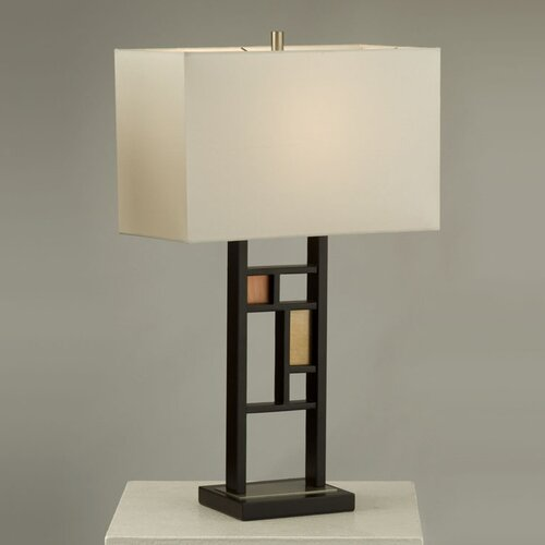 "Nova Colored Windows 28"" H Table Lamp with Rectangle Shade"