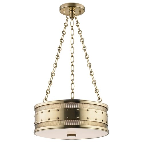 Gaines 3 Light Drum Pendant